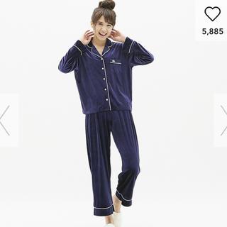 GU - gu ベロア素材  パジャマ(長袖) ネイビー Mサイズ
