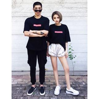 セール◎オーバーサイズ 韓国ストリート バックペイント ゆったりTシャツ(Tシャツ/カットソー(半袖/袖なし))