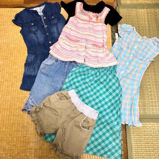 ユニクロ(UNIQLO)の130㎝  夏服セット  女の子  7着セット(ワンピース)