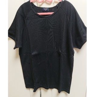 ユニクロ(UNIQLO)のユニクロ、ブラックTシャツXL (Tシャツ(半袖/袖なし))