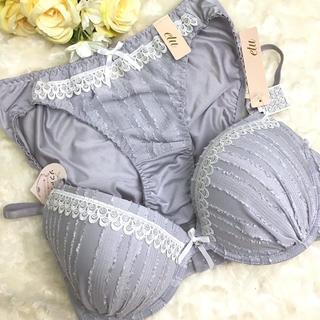男の娘に大人気!G70M ラブリーグレー ブラショー 女装(ブラ&ショーツセット)