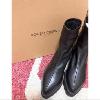 ロデオクラウンズワイドボウル(RODEO CROWNS WIDE BOWL)のRCWB✳︎ストレッチショートブーツ✳︎売約済み☺︎(ブーツ)