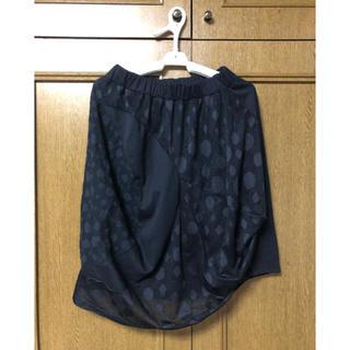 アンティカ(antiqua)のantiqua 変形スカート(ひざ丈スカート)