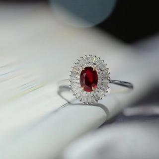 天然ノーヒットピジョンブラッドルビー指輪(リング(指輪))