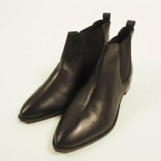 エイソス(asos)のASOS サイドゴアブーツ ブラック 黒 本革 UK5(ブーツ)
