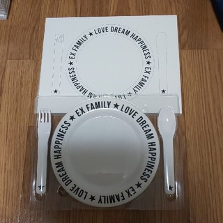 エグザイル トライブ(EXILE TRIBE)のEXILE FAMILY プラスチック食器三点セット(食器)