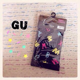 ジーユー(GU)のGU プリントタイツ(タイツ/ストッキング)