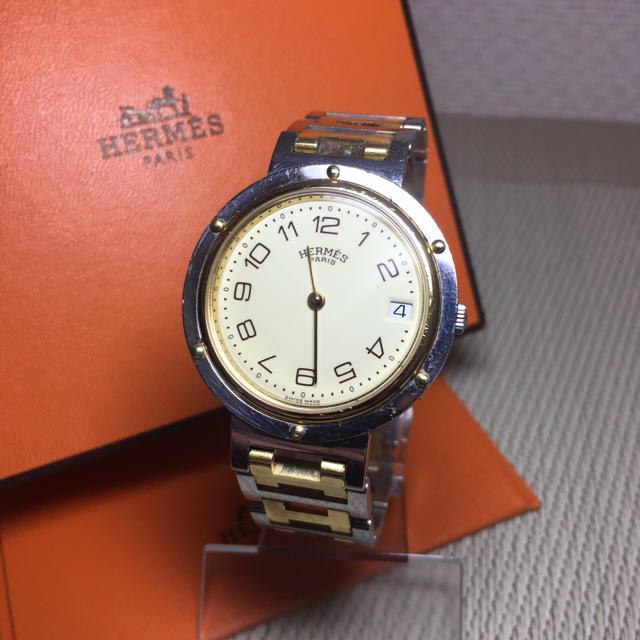 Hermes - エルメス クリッパー ゴールドコンビ メンズ Hウォッチ 【H16】の通販 by 即購入okです^_^|エルメスならラクマ