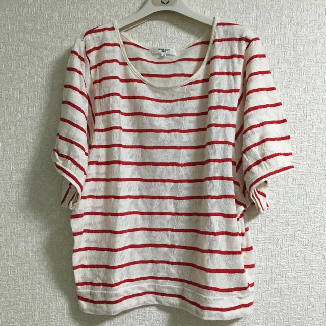 NATURAL BEAUTY BASIC(ナチュラルビューティーベーシック)のナチュラルビューティーベーシック カットソー Tシャツ ボーダー M  レディースのトップス(カットソー(半袖/袖なし))の商品写真