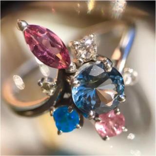 天然ブルースピネル と色石リング(リング(指輪))