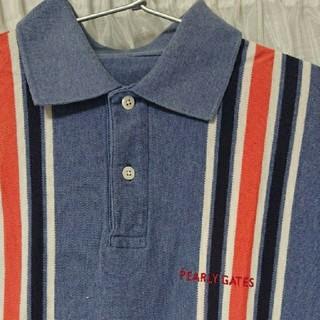 パーリーゲイツ(PEARLY GATES)の週末お値下げ  お洒落な PEARLY GATES  ポロシャツ  (ブルー系)(ポロシャツ)