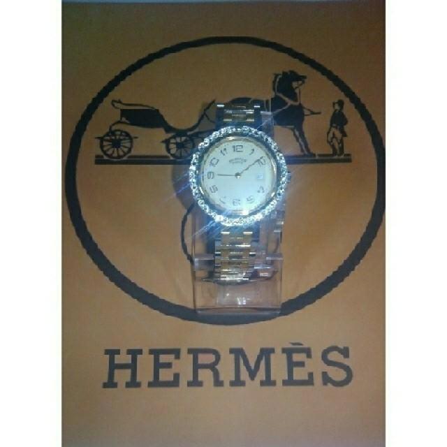 Hermes - HERMES・Clipper・SWAROVSKI・custom 期間限定saleの通販 by 亀虫時計店|エルメスならラクマ