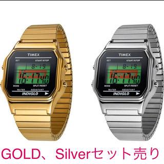 シュプリーム(Supreme)のSupreme、TIMEX、2色セット売り!(腕時計(デジタル))