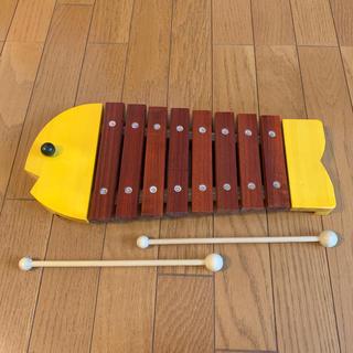 ボーネルンド(BorneLund)のボーネルンド  木琴  黄色  おさかな(楽器のおもちゃ)