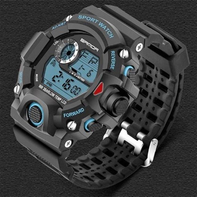 青 ビッグフェイス ダイバーズウォッチ 高級感 メンズ腕時計デジタルの通販 by ポール's shop|ラクマ