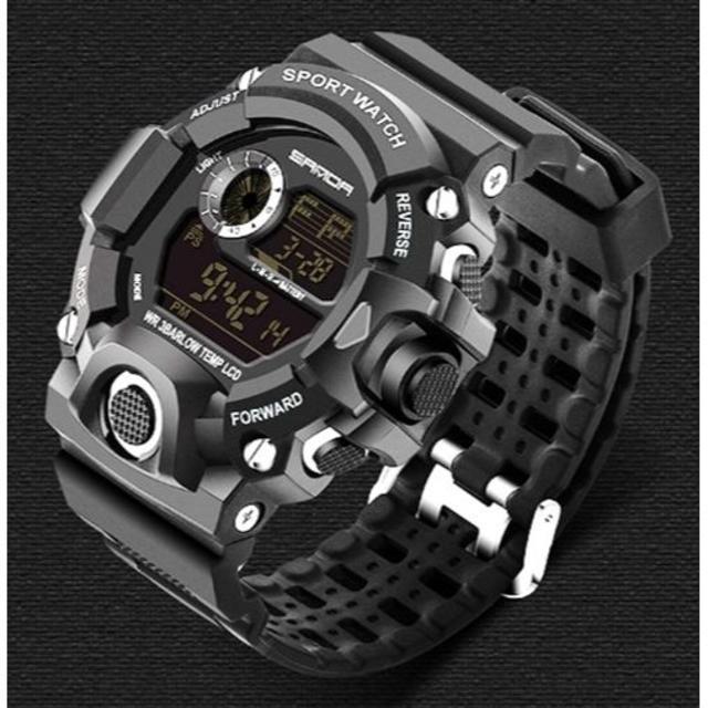 黒 ビッグフェイス ダイバーズウォッチ 高級感 メンズ腕時計デジタルの通販 by ポール's shop|ラクマ