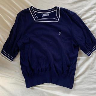 サンローラン(Saint Laurent)のイヴサンローラン 半袖ニット yves saint laurent(Tシャツ(半袖/袖なし))