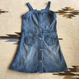 エイチアンドエム(H&M)のH&M 130 デニム ジャンパースカート サロペット(ワンピース)
