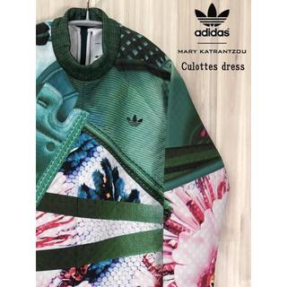 アディダス(adidas)の新品 定価3.6万 アディダス×メアリーカトランズ コラボ☆キュロットワンピ(ひざ丈ワンピース)
