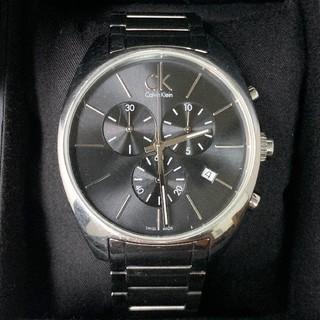 カルバンクライン(Calvin Klein)のカルバンクライン K2F271 黒文字盤 スモセコ クロノグラフ デイト(腕時計(アナログ))