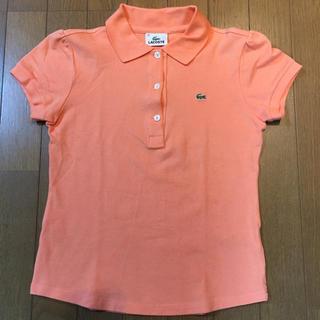 ラコステ(LACOSTE)のラコステ size38  シャーベットオレンジ(ポロシャツ)