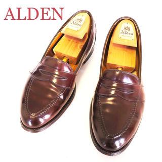 オールデン(Alden)の71.ALDEN オールデン コードバン ペニーローファー 684 8.5(スリッポン/モカシン)