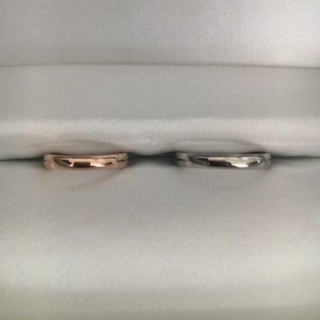 ete(エテ)のete エテ マリッジ リング K18PG K18WG 3mm 7.0g レディースのアクセサリー(リング(指輪))の商品写真