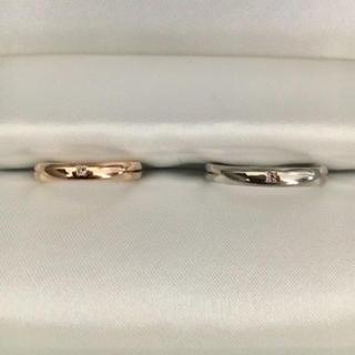 エテ(ete)のete エテ マリッジ リング K18PG K18WG 3mm 7.0g(リング(指輪))