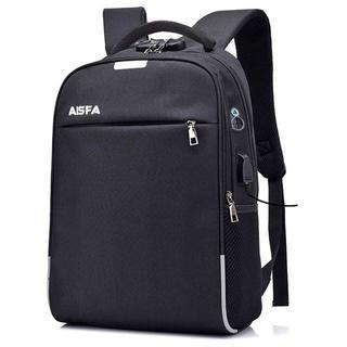 通勤通学 PCバック ビジネスリュック 盗難防止 パスワードローク ブラック#1(ビジネスバッグ)