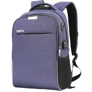 通勤通学 PCバック ビジネスリュック 盗難防止 パスワードローク ブルー(ビジネスバッグ)