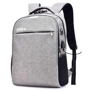 通勤通学 PCバック ビジネスリュック 盗難防止 パスワードローク グレー(ビジネスバッグ)