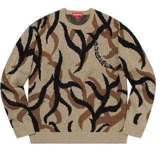 シュプリーム(Supreme)のSupreme tribal camo sweater tan M(ニット/セーター)