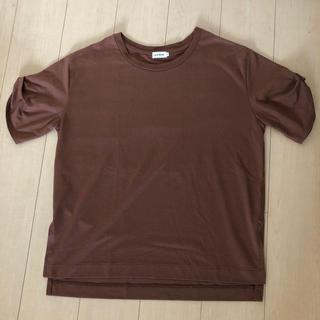 レプシィム(LEPSIM)の美品★LEPSIM ブラウン チュニックTシャツ Fサイズ(チュニック)