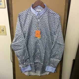 エトロ(ETRO)の【新品】ETRO 総柄ペイズリー バイカラーシャツ 41 Lサイズ(シャツ)