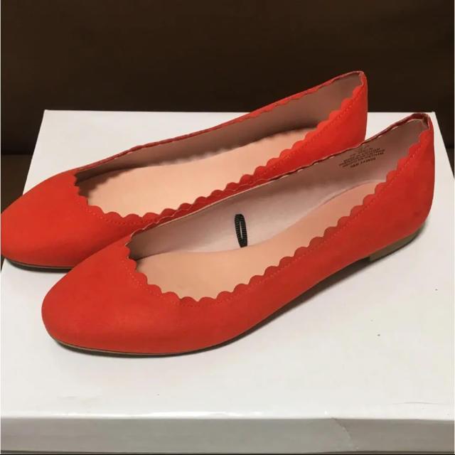 H&M(エイチアンドエム)の【特価】H&M エイチアンドエム オレンジ バレーシューズ(38) レディースの靴/シューズ(バレエシューズ)の商品写真