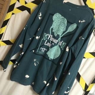シュプリーム(Supreme)のリメイク ブリーチ加工 ナンバーズエディション flower  薔薇 カットソー(Tシャツ/カットソー(七分/長袖))