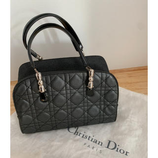 クリスチャンディオール(Christian Dior)の美品‼︎ Christian Diorカナージュミニボストンバッグ ブラック(ボストンバッグ)