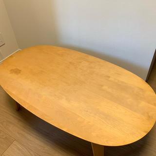 ムジルシリョウヒン(MUJI (無印良品))のオーバルローテーブル バーチ材 無印良品(ローテーブル)