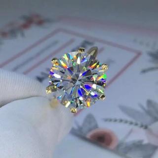 【10カラット】輝く モアサナイト ダイヤモンド リング k18ホワイトゴールド(リング(指輪))