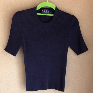 ラルフローレン(Ralph Lauren)のラルフローレン  半袖 カットソー  綿ニット   綿100(カットソー(半袖/袖なし))