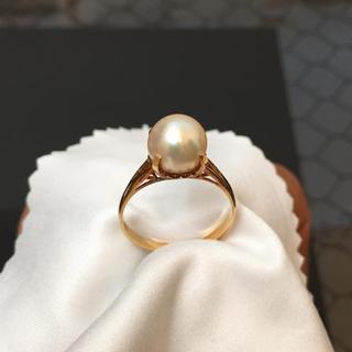 K18《18金》パールの輝きが美しい☆ パール付きリング 2.7g 《刻印あり》(リング(指輪))