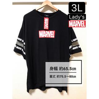 マーベル(MARVEL)の新品タグ付き 大きいサイズ3L MARVEL シースルー 半袖(Tシャツ(半袖/袖なし))