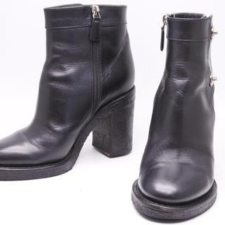 シャネル(CHANEL)のCHANEL シャネル ブーツ ターンロック ブラック シルバー レディース37(ブーツ)
