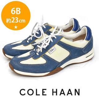 コールハーン(Cole Haan)の美品❤️コールハーン レディース スニーカー 6B(約23cm) ブルー(スニーカー)