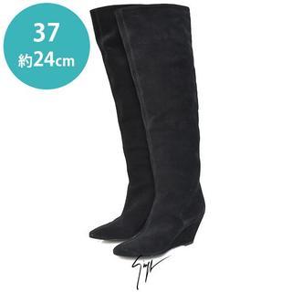 ジュゼッペザノッティ(GIUZEPPE ZANOTTI)の美品❤️ジュゼッペザノッティ ウェッジ ニーハイ ロングブーツ 37(約24cm(ブーツ)