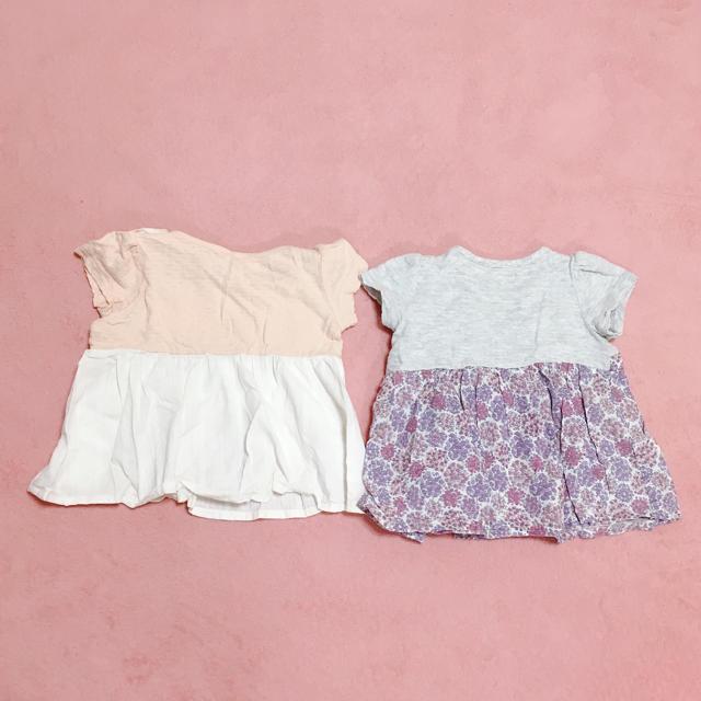 しまむら(シマムラ)のトップス チュニック ワンピース キッズ/ベビー/マタニティのベビー服(~85cm)(Tシャツ)の商品写真