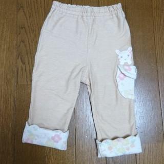 クーラクール(coeur a coeur)のキムラタン クーラクール ベージュ 折り返しパンツ 裾スカラップ 80サイズ(パンツ)