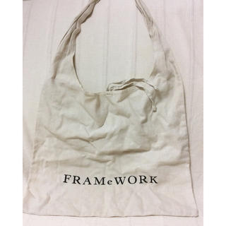 フレームワーク(FRAMeWORK)のフレームワーク リネン ショルダーバッグ エコバッグ 麻 スピックアンドスパン(ショルダーバッグ)