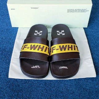 オフホワイト(OFF-WHITE)のOFF-WHITE INDUSTRIAL LOGO SLIDE SANDAL(サンダル)
