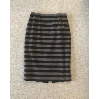 サクラ(SACRA)のsacra ボーダータイトスカート 36(ひざ丈スカート)